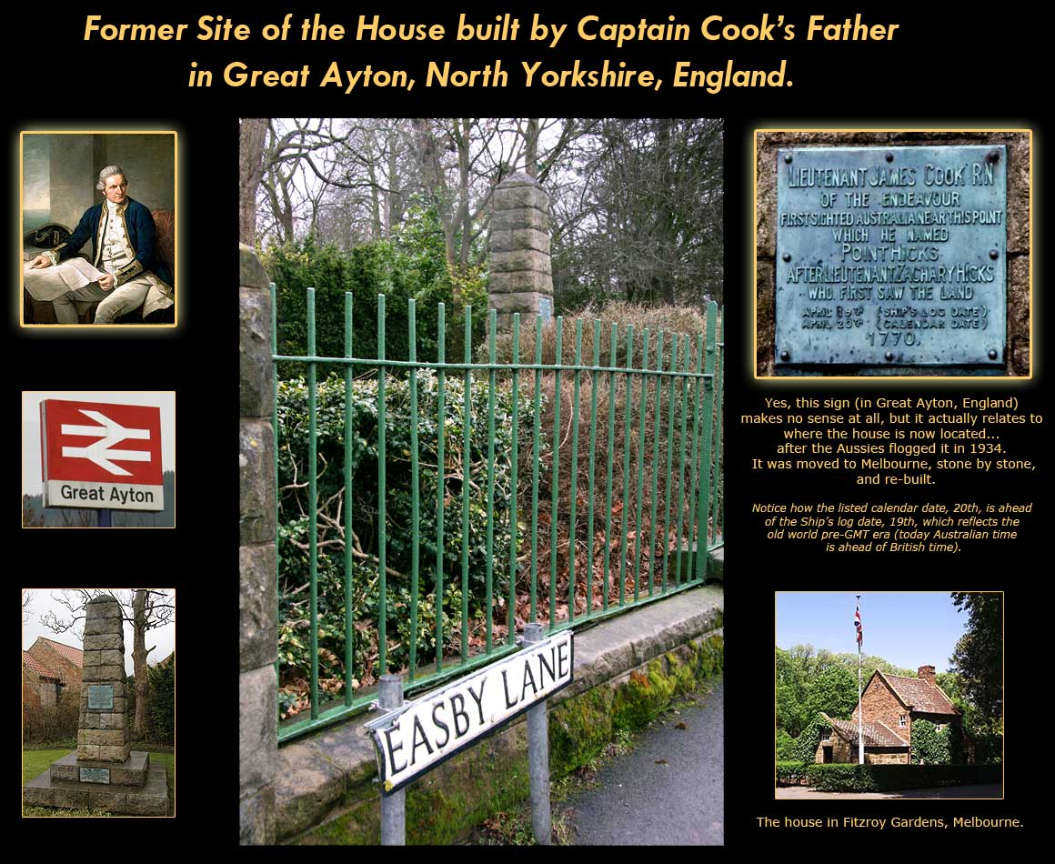 Captain Cook's childhood home in Great Ayton, North Yorkshire, England