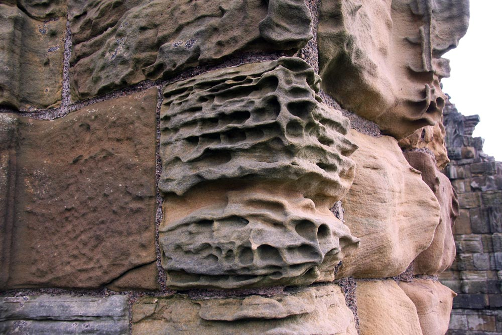 Erosion at Whitby Abbey