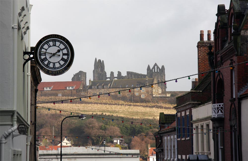 Whitby Abbey viewed from Whitby township