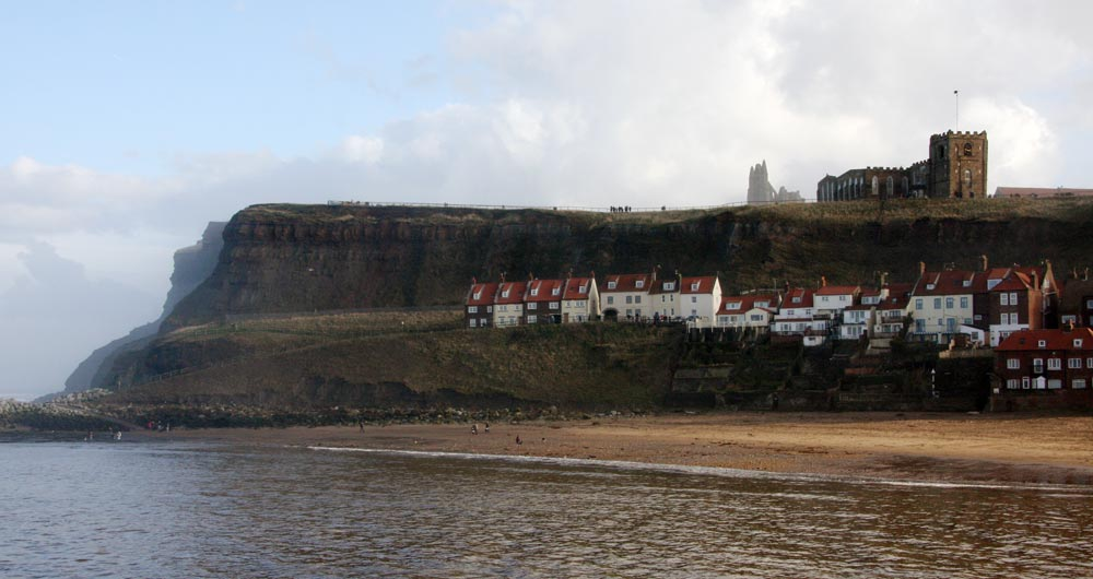 Whitby Abbey atop the Yorkshire Headlands