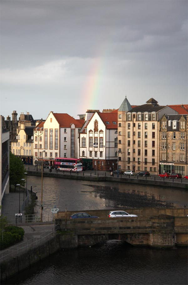 Rainbow over Leith